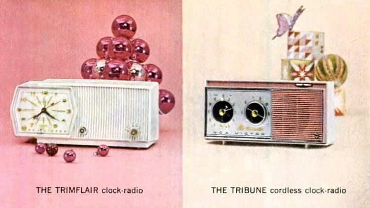 Retro clock radios from 1960
