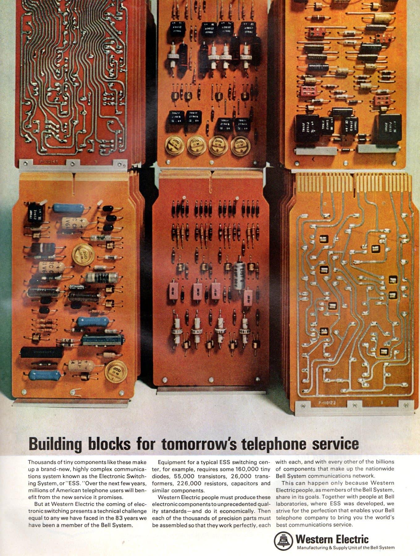 Retro computer components Building blocks for tomorrow's telephone service (1965)
