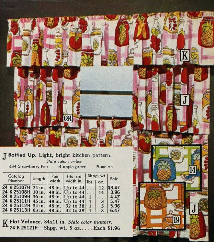 Retro curtains - Shorties of heavy cotton from the 1970s (3)