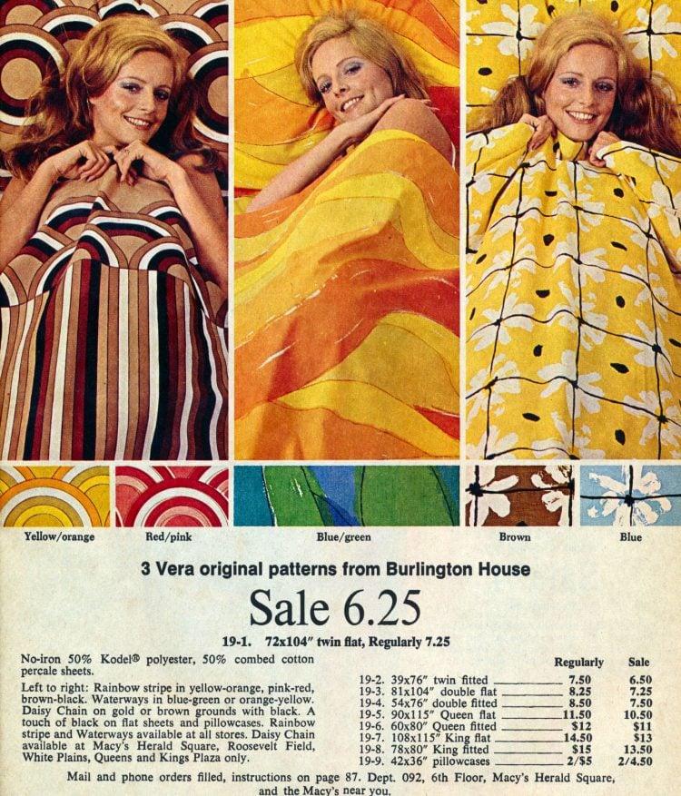 Retro designer sheets - Vera 1970