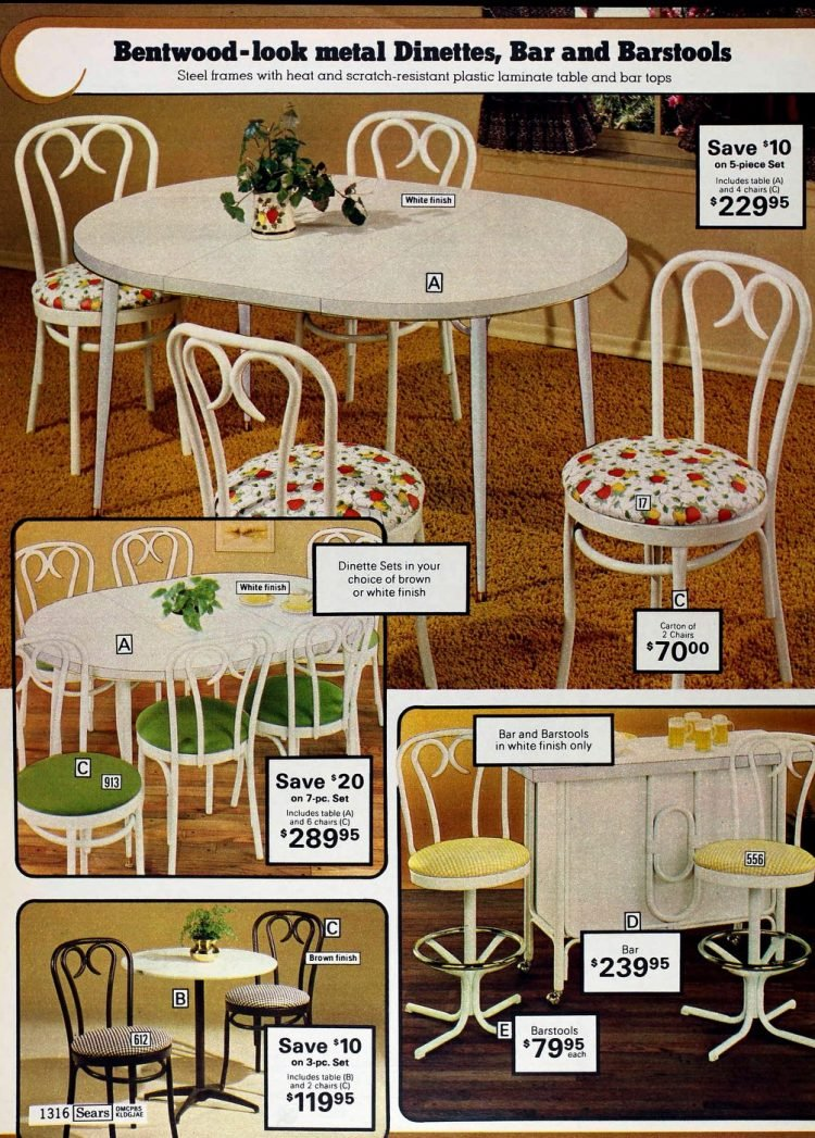 Retro dinette sets from the '70s (2)