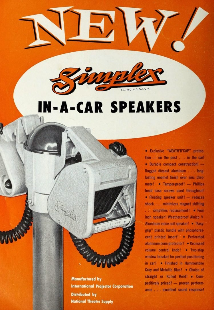 Retro drive-in theater car speakers from 1954 (1)