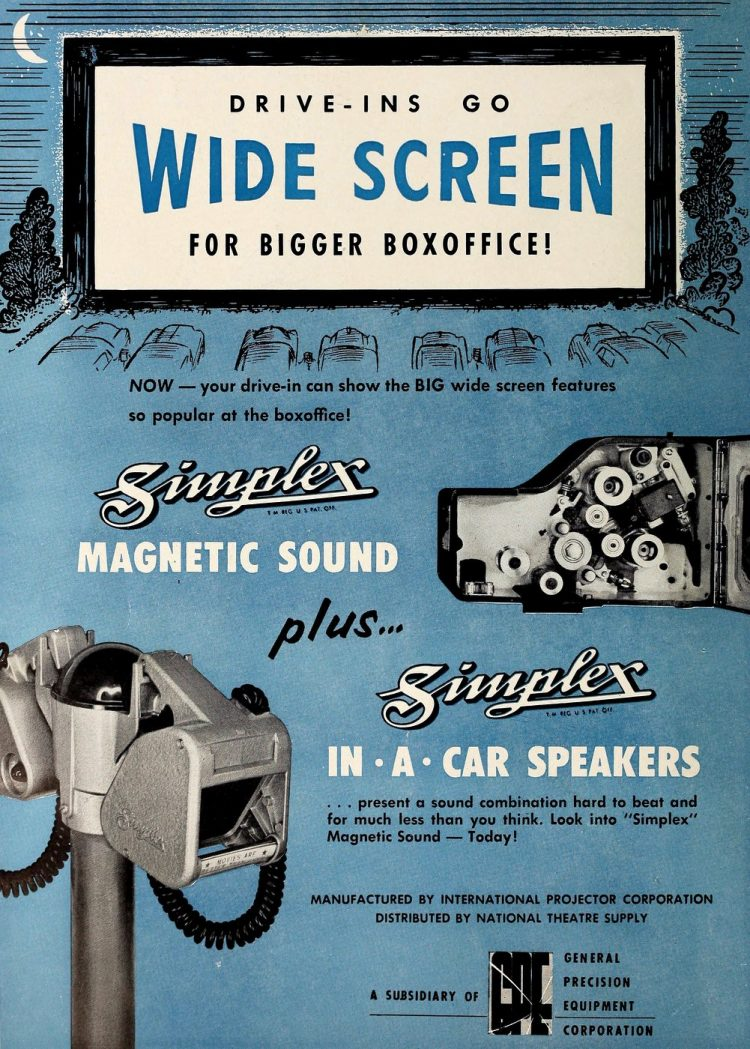 Retro drive-in theater car speakers from 1954 (2)