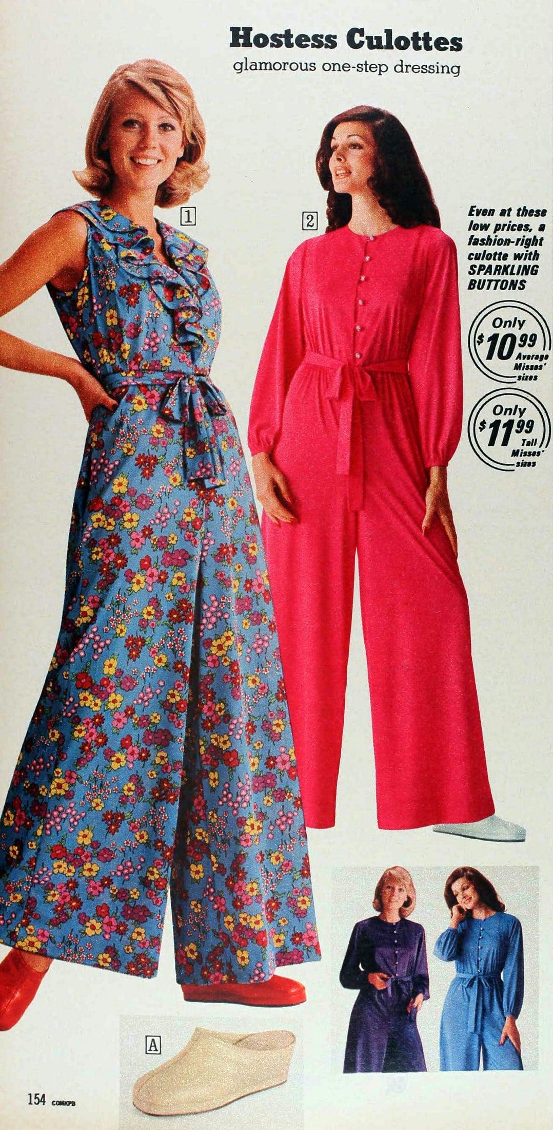 Retro fashion - Hostess culottes (1974)