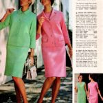 Italian wool double-knit dress and jacket ensembles with three-quarters sleeves
