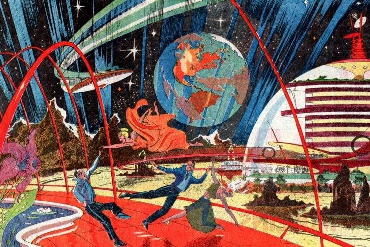 Retro-futuristic space-age inventions