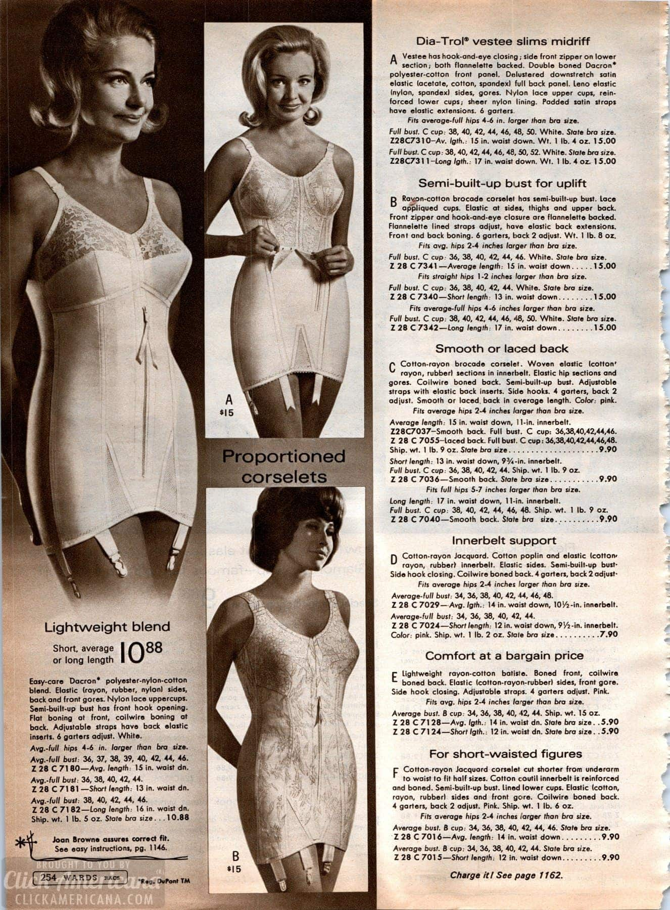 f5711052daa Retro girdles and corselets with garters (1) - Click Americana