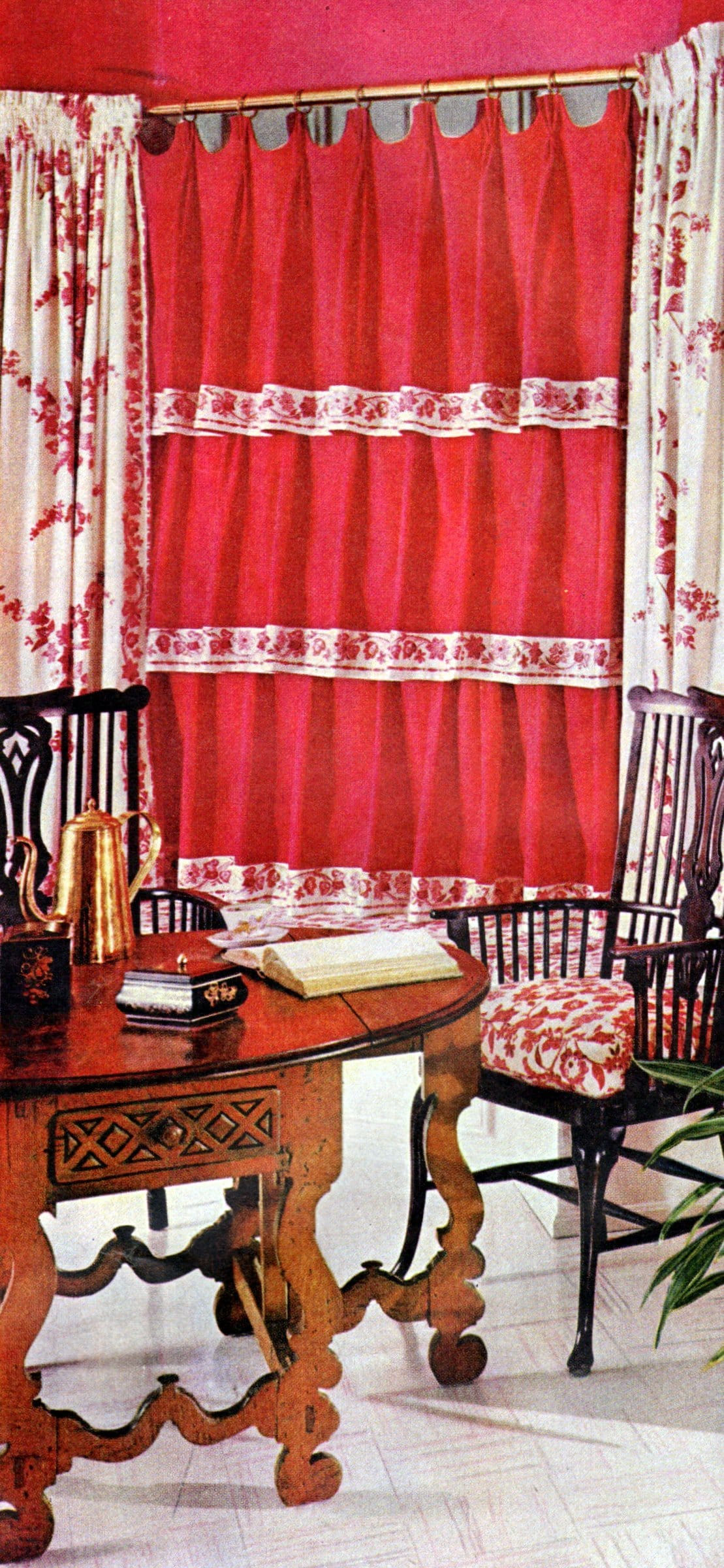 Retro home decorating - Use a single color boldly - Red (2)