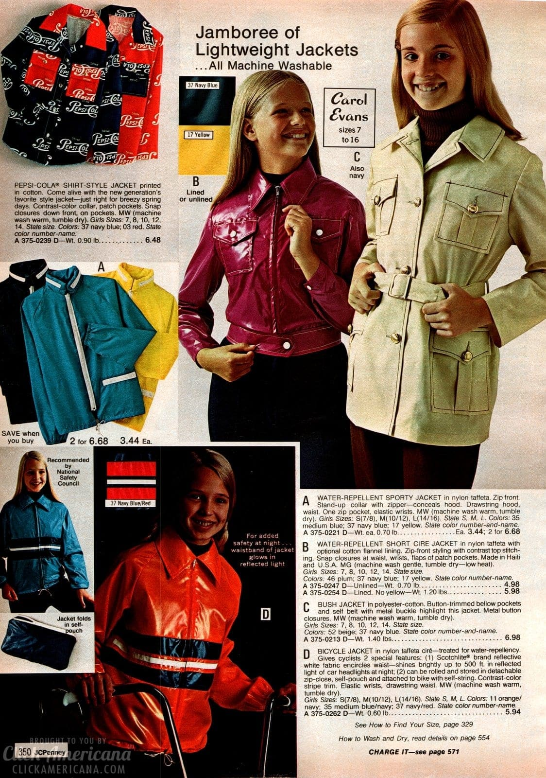 Retro jackets for girls - glossy styles and hooded - from 1973