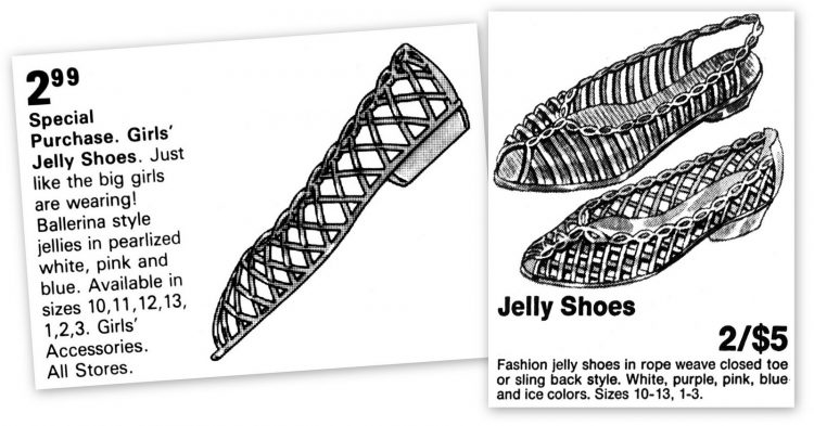 Retro jelly shoes - jellies ads from 1985