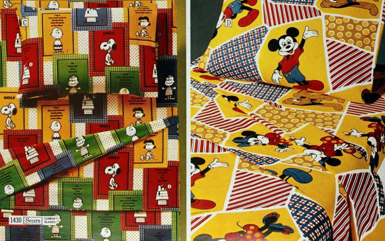 Retro kids' patterned sheets and bedding from the seventies (4)