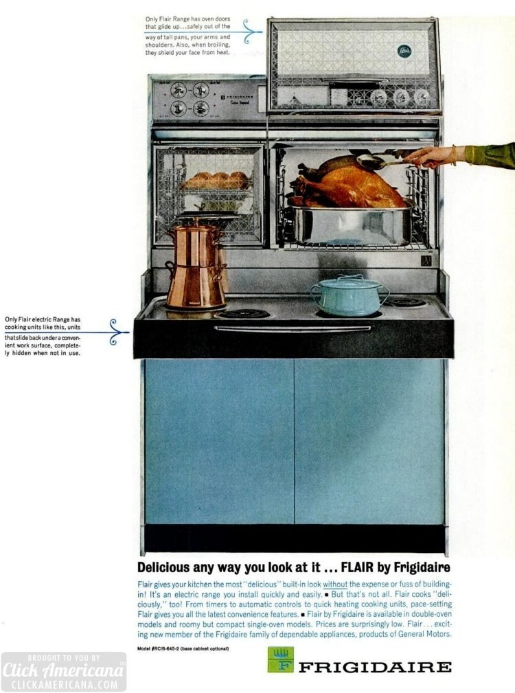 8 vintage sixties kitchens with Flair ranges: Pull-out