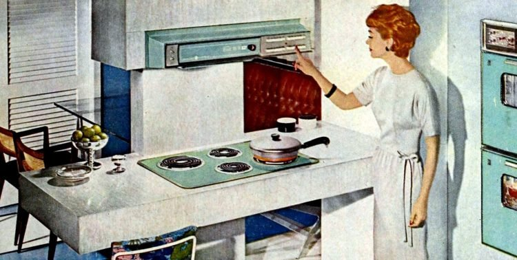 Retro kitchen island design from 1962