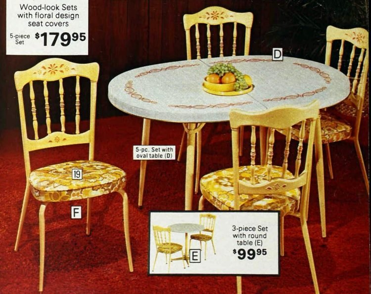 Retro kitchen table and chairs from the 1970s