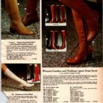 Retro leather and urethane dress boots for women from 1979