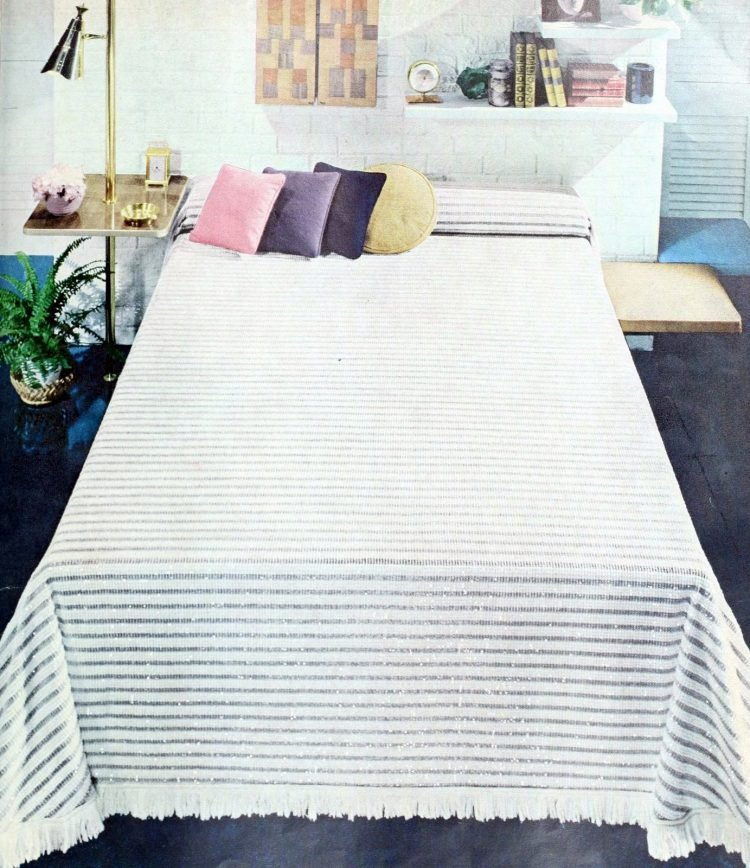 Retro mid-century modern bedroom style