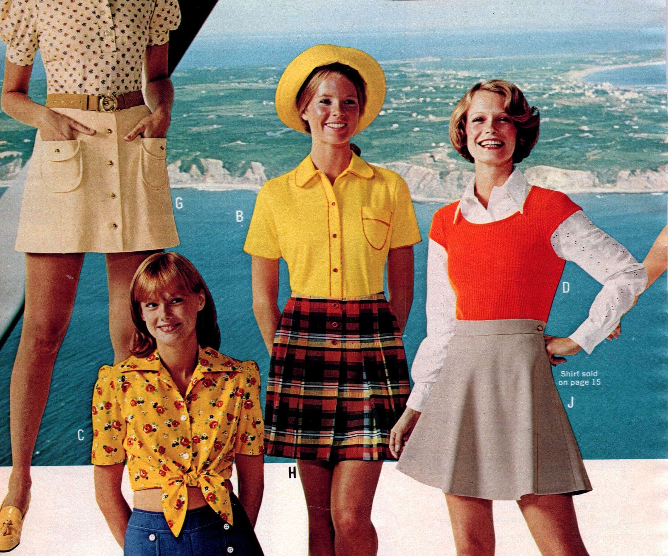Retro mini dresses and vintage clothing from 1973 - fashion (2)