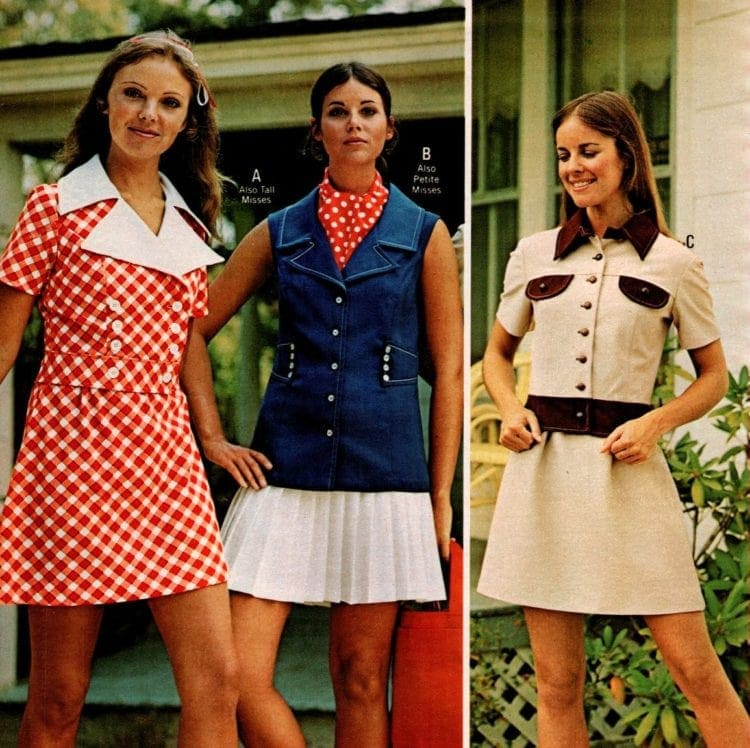 Vintage minidresses from 1973