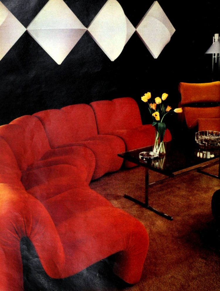 Retro modern modular couch from the 1970s