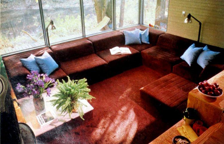 Retro modular sofa nook