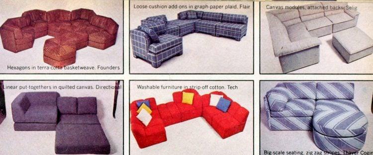 Retro modular sofas from the 1970s (1)