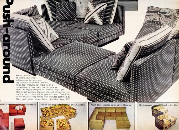 Retro modular sofas from the 1970s (2)