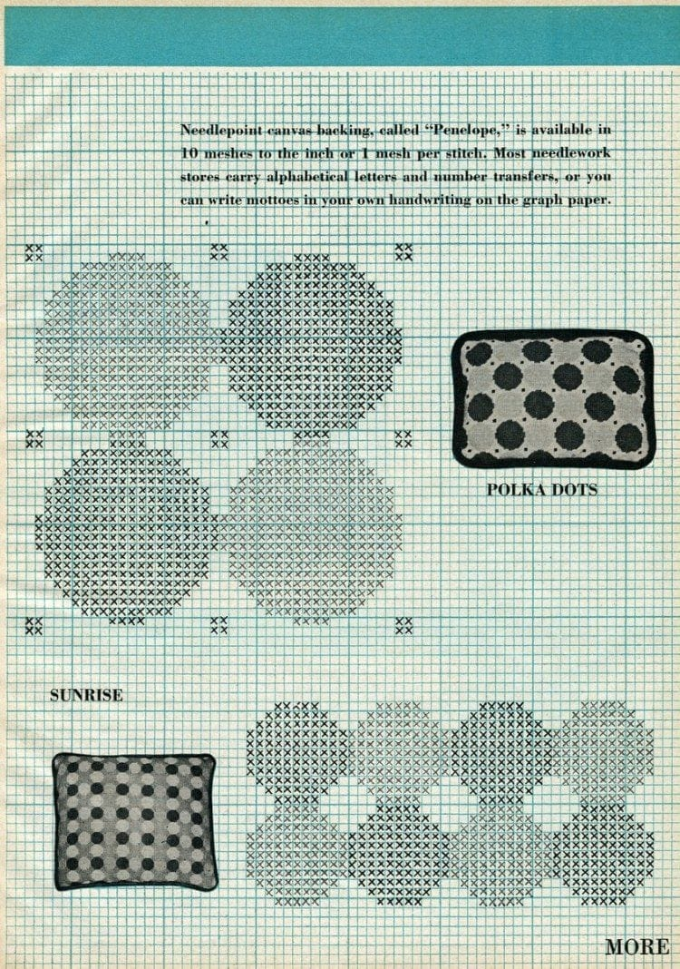 The bright, new look of needlepoint (1958)