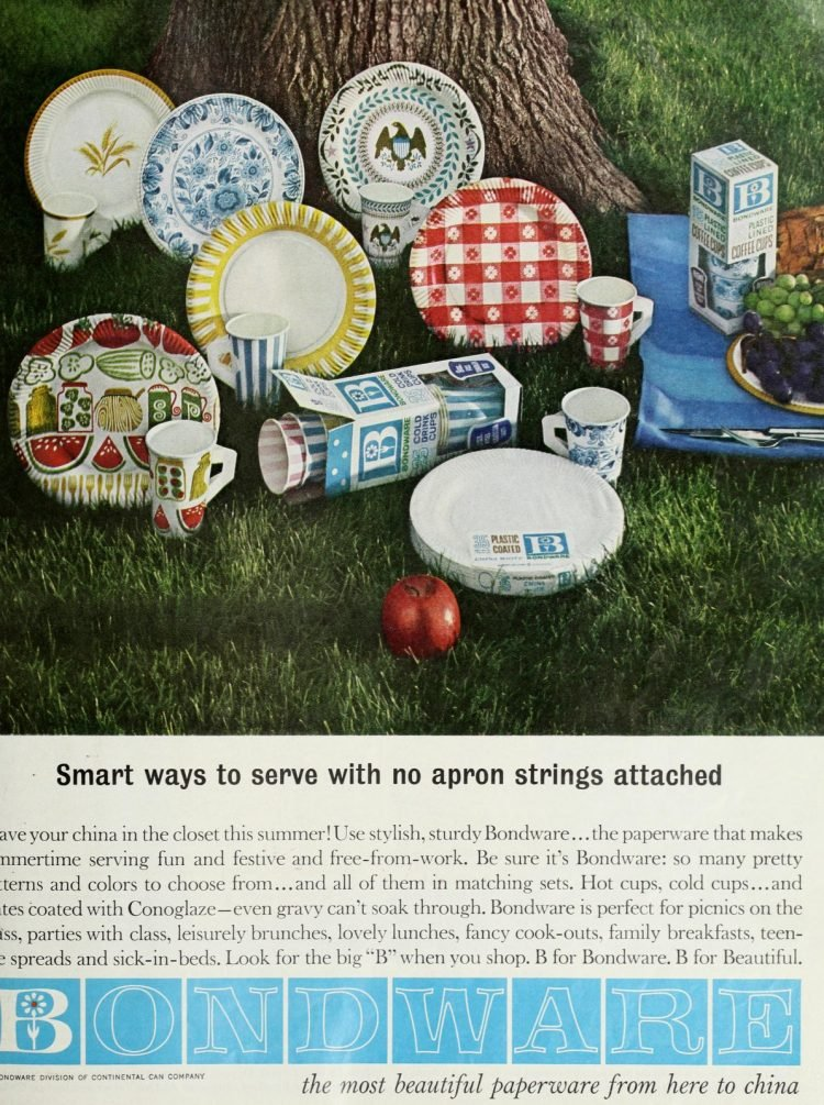 Retro paper plates from the sixties