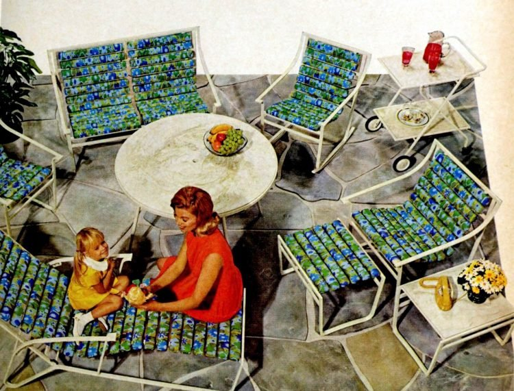 Retro patio furniture sets from 1968