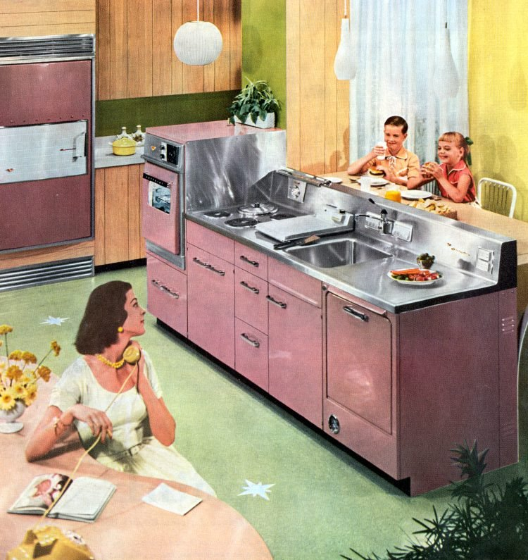 Retro pink kitchen - Vintage 50s home decor (2)