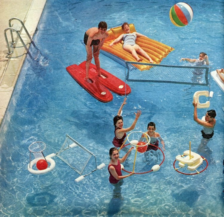 Retro pool toys Inflatable animals, rafts and more vintage water fun from 1961 (1)