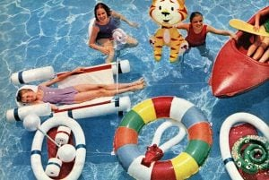 Retro pool toys Inflatable animals, rafts more vintage water fun from the 60s