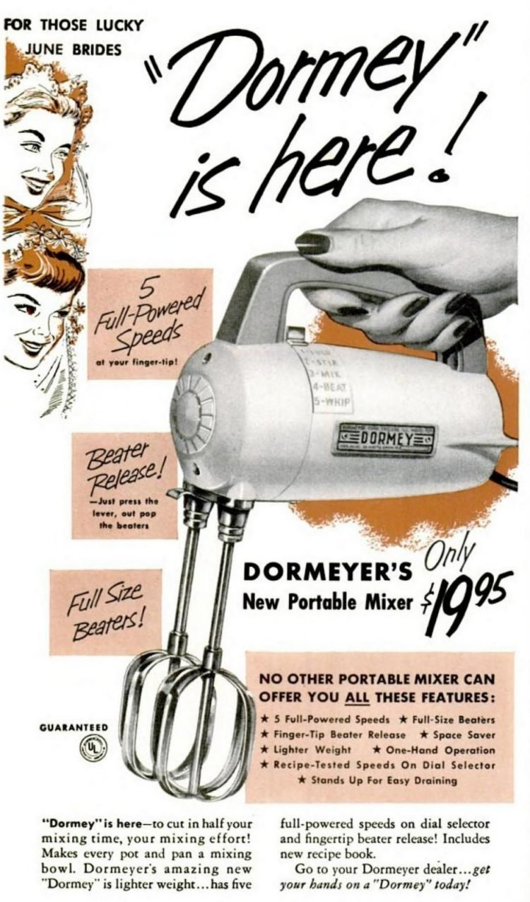 Retro portable mixer from the fifties - Dormey is here