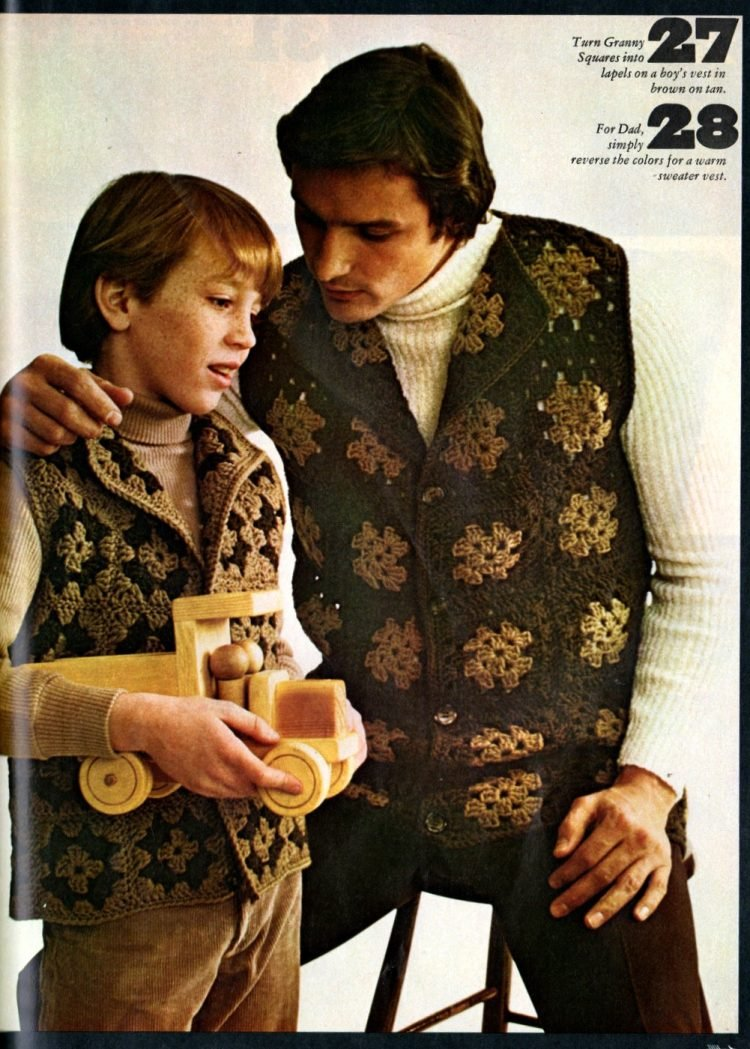 Retro projects to crochet with granny squares 1970s (1)