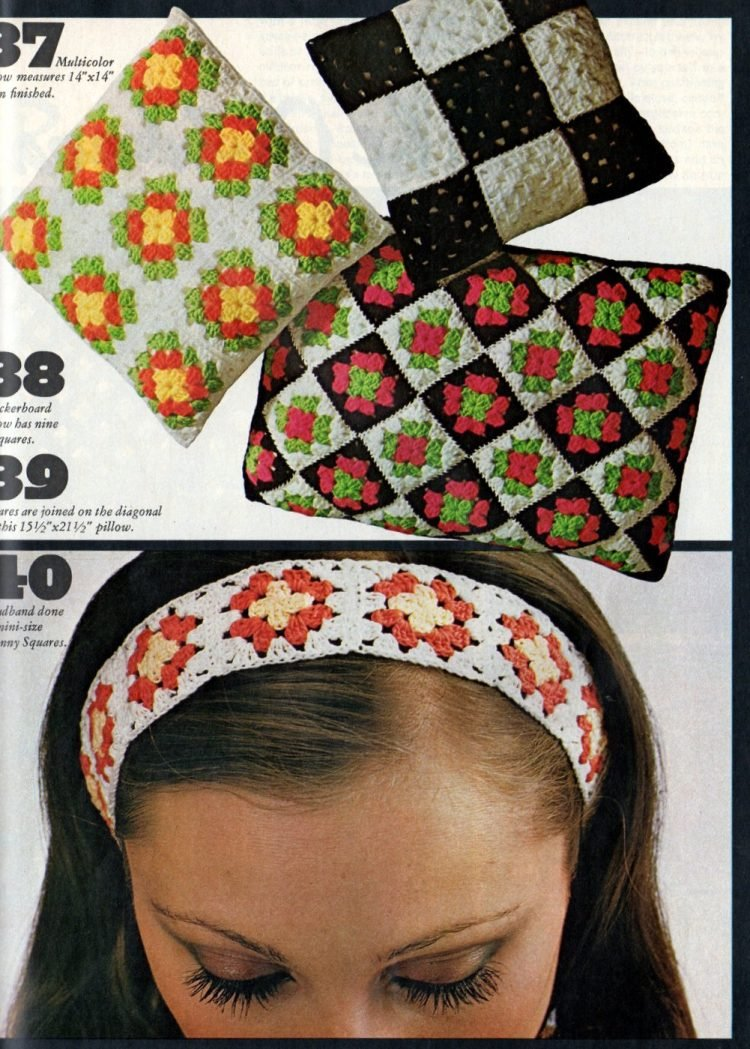 Retro projects to crochet with granny squares 1970s (2)