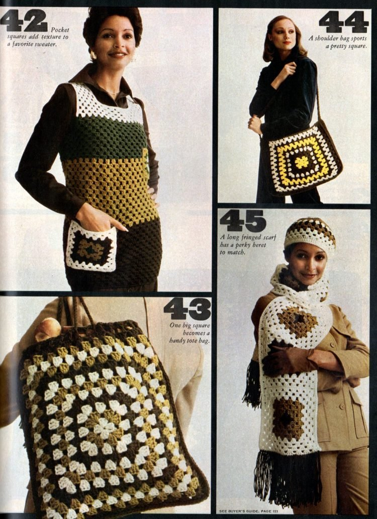 Retro projects to crochet with granny squares 1970s (4)