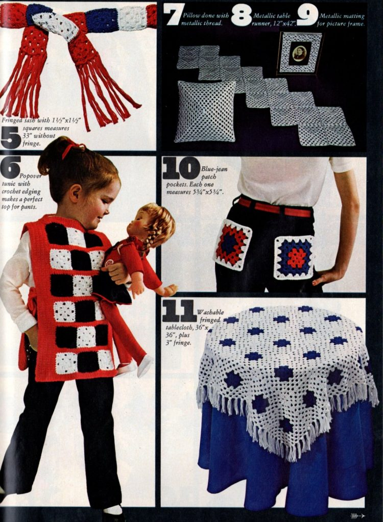 Retro projects to crochet with granny squares 1970s (5)