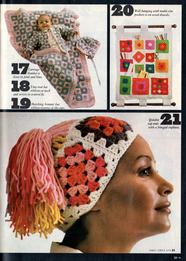 Retro projects to crochet with granny squares 1970s (6)