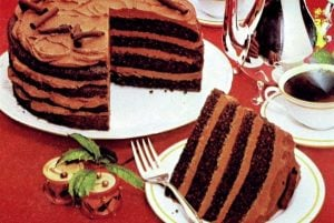 Retro recipe Mocha magic torte (1982)