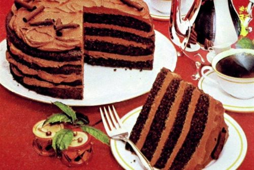 Retro recipe Mocha magic torte (1982)