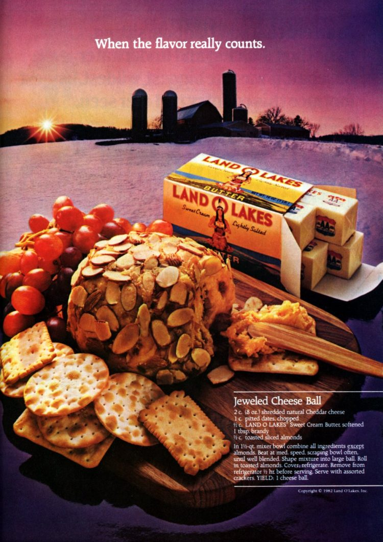 Retro recipe for Cheddar-brandy almond-covered cheese ball