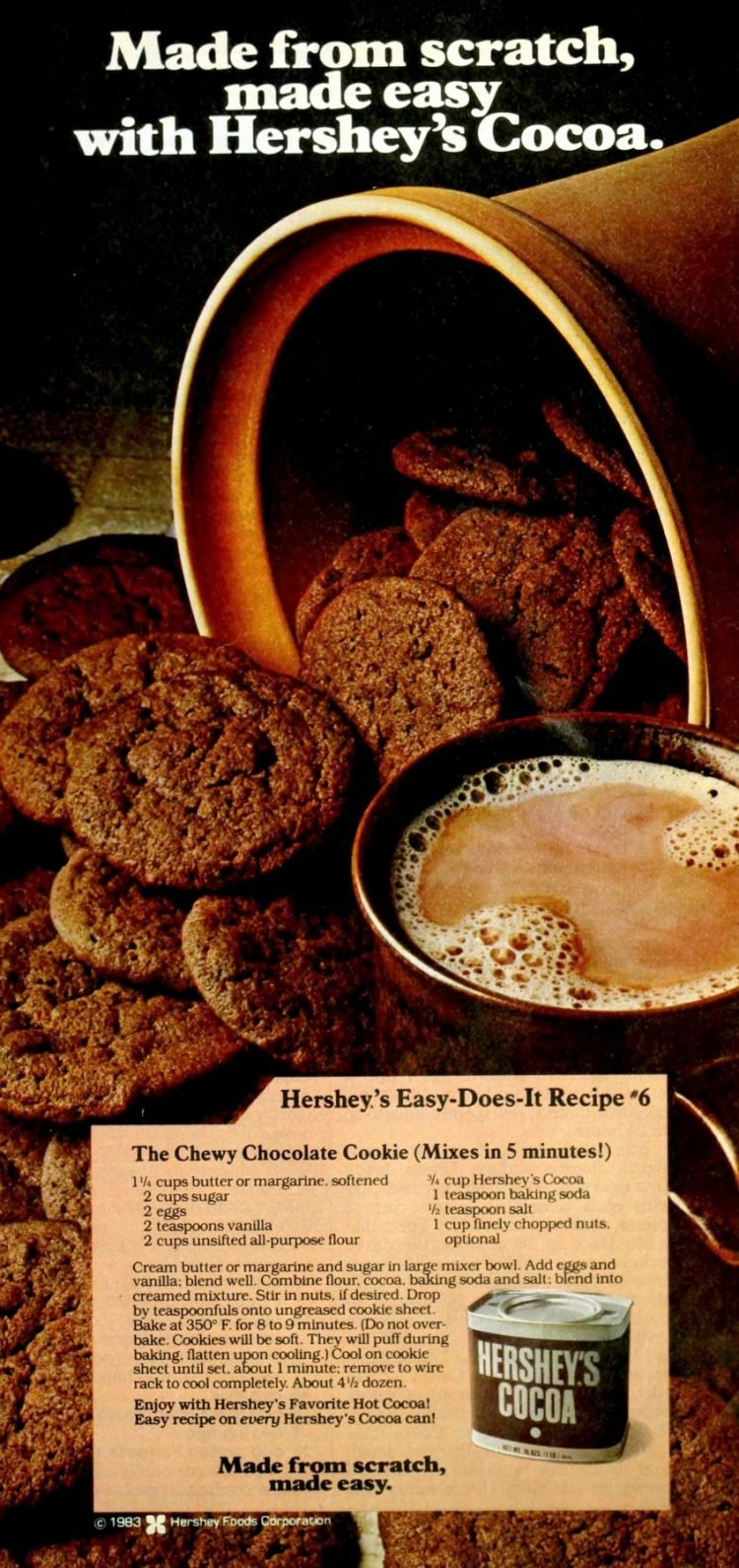 Retro recipe for Hershey's chewy chocolate cookies