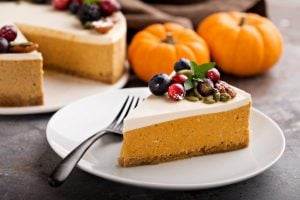 Retro Thanksgiving recipes: Luscious cheesecake-topped pumpkin pies you'll love