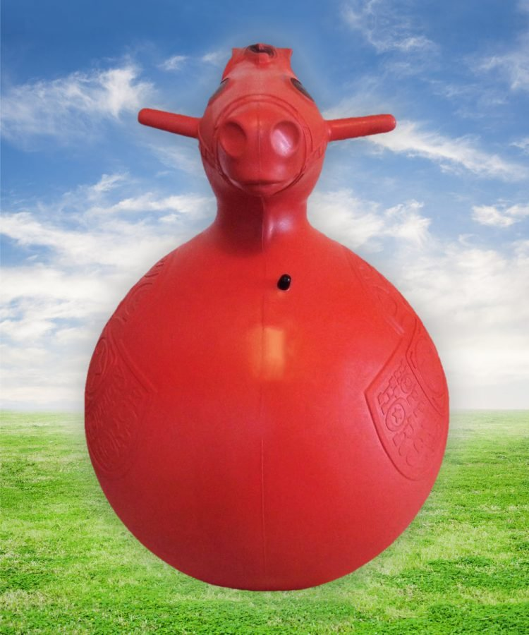Retro red Hoppity Horse bouncing toy