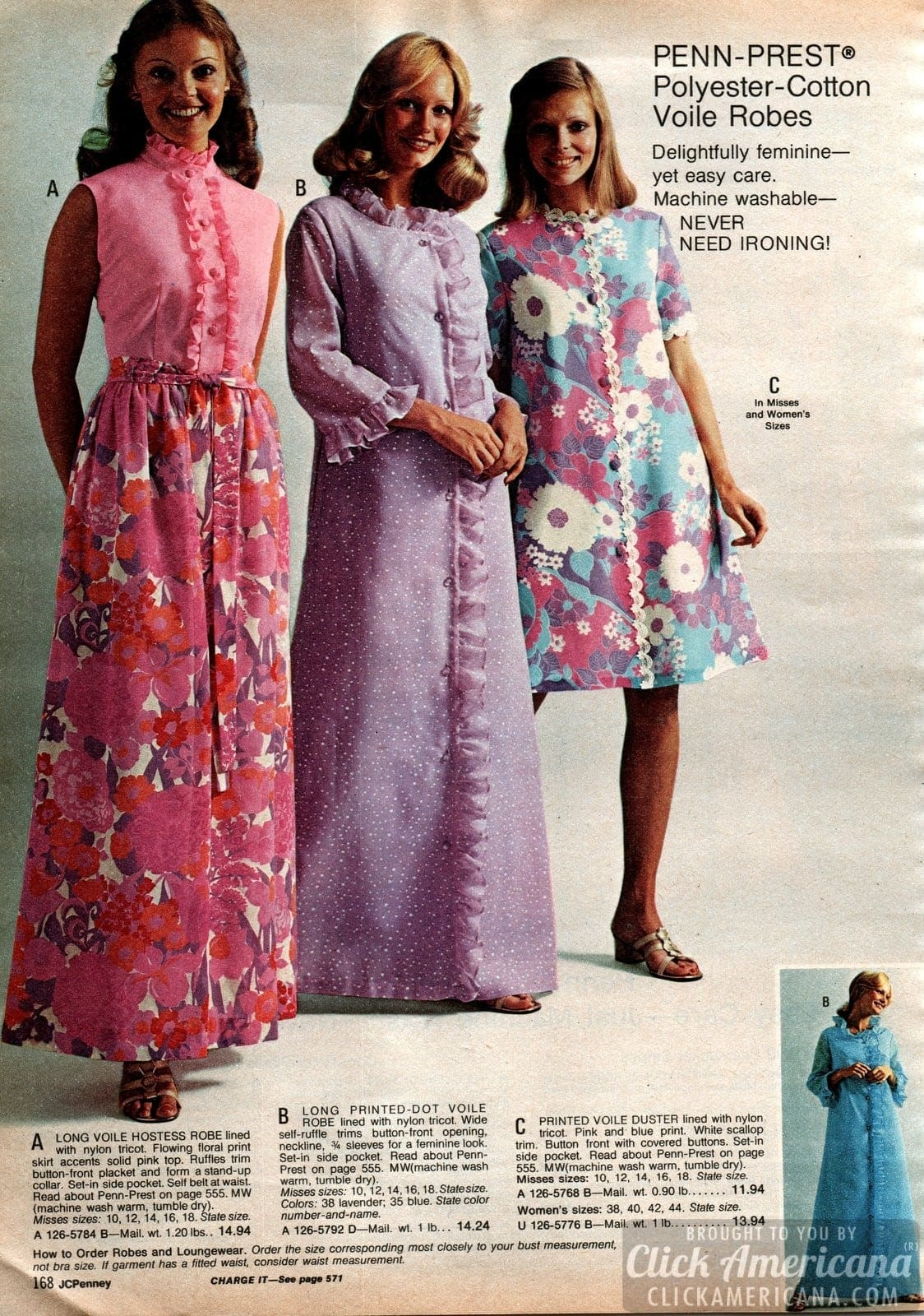 Retro robes for women from the 70s