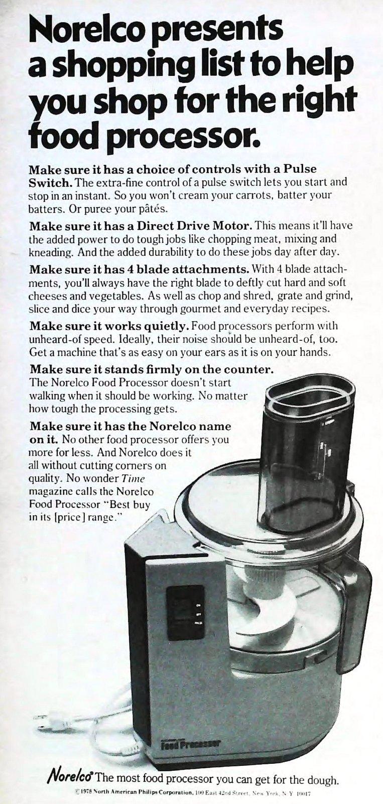 Retro seventies Norelco food processor (1978)
