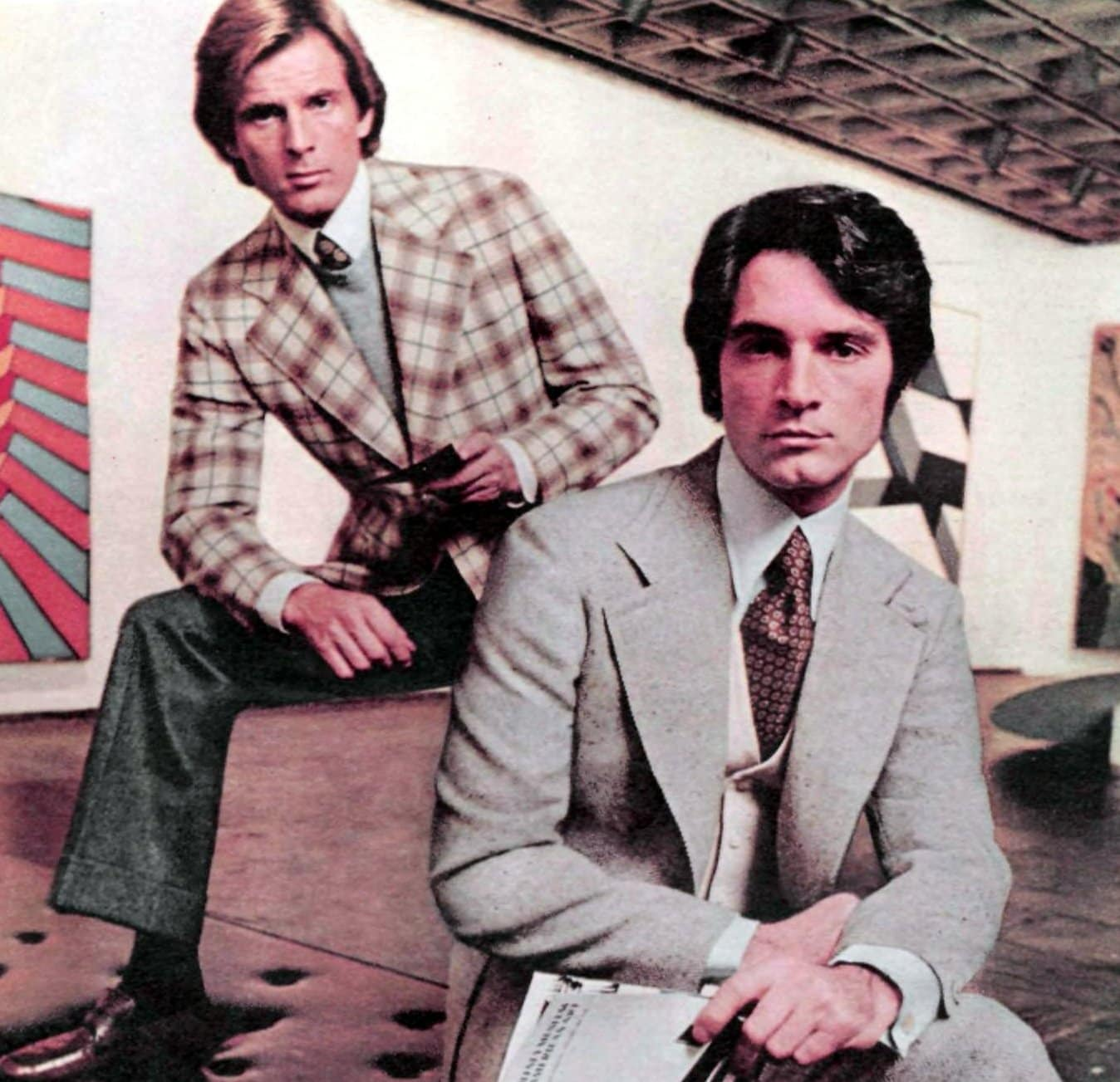 Retro seventies casual suits for guys (1974)