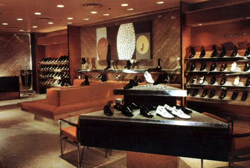 Retro seventies shoe store interior (1971)
