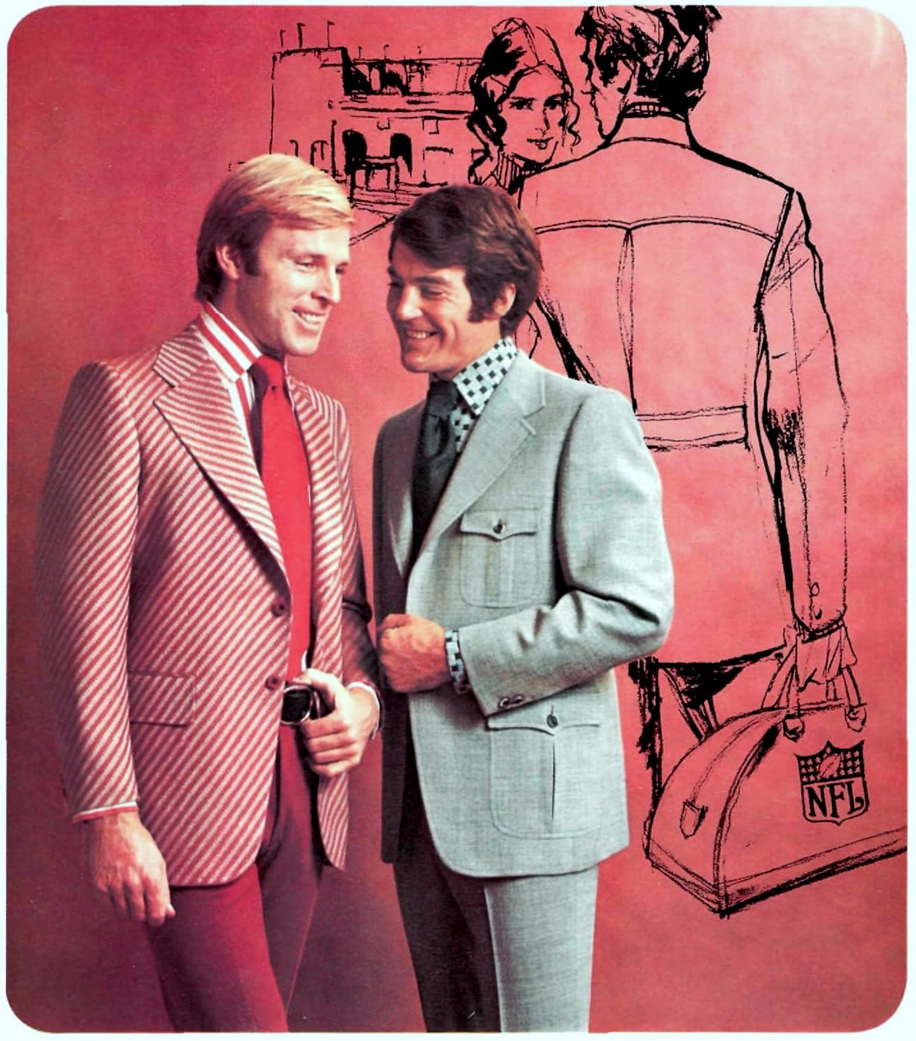 Retro seventies suits for guys (1971)