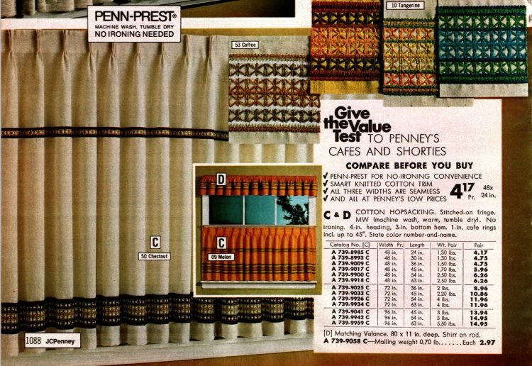 Retro short window curtain styles from 1973 (1)